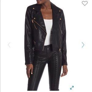 BlankNYC faux leather asymmetrical zip moto jacket
